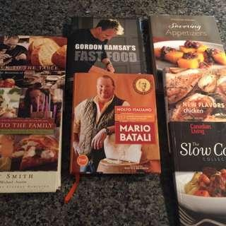 Variety Of Hard cover Top Chef Cook Books