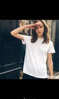 austere white and black tee