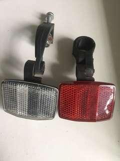 Front and back reflectors