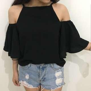 Off Shoulder Black Top #CNY888