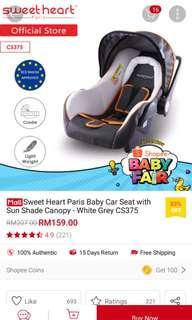 Baby car seat Sweet Heart