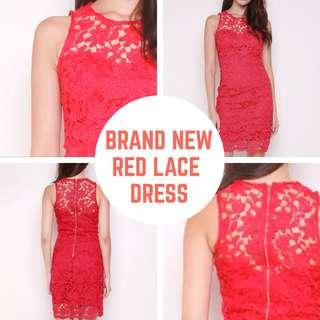 Brand New Red Lace Dress (Perfect for CNY!)