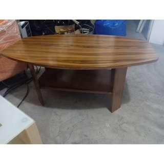 Small Brown Wood Oblong Center Table or coffee table