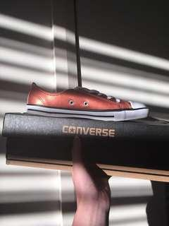 CONVERSE copper toned shoes