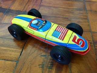 Vintage Racer Toy Tin Can
