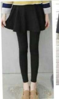 🚚 F size 黑色假兩件裙褲