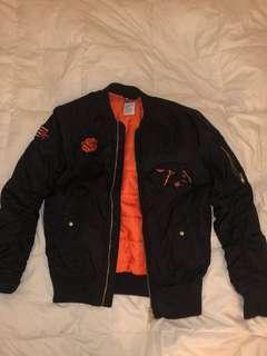 Black and Orange Bomber