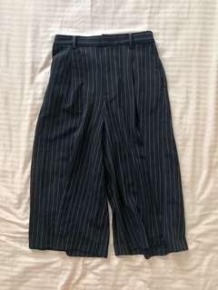 Uniqlo Black Stripes Formal Casual Culottes