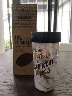 BN The paper stone type font double wall acrylic tumbler