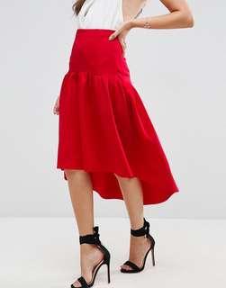 ASOS Scuba Prom Skirt w/ High Low Hem