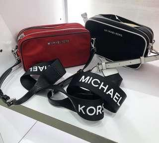 MK Nylon double zip camera bag with detachable  strap