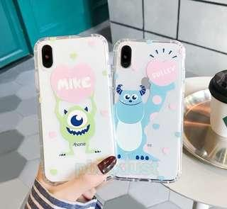 mike and sulley couple phone casing