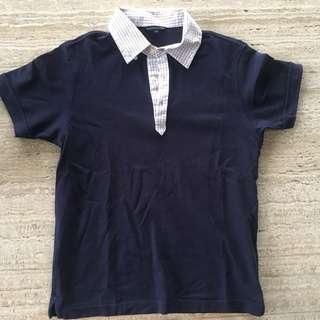 Uniqlo Navy Blue Polo Tee