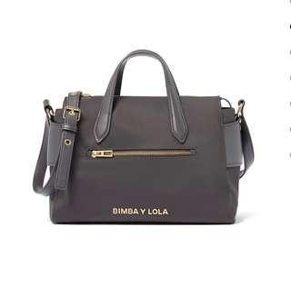 Bimba Y Lola Grey tote bag pocket