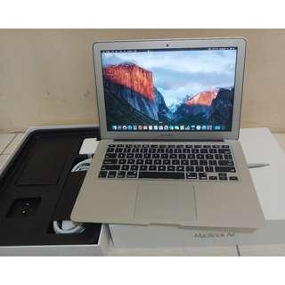 Macbook Air 7,2 tahun 2017 Core i5 Ram 8GB Ssd 128GB Like New