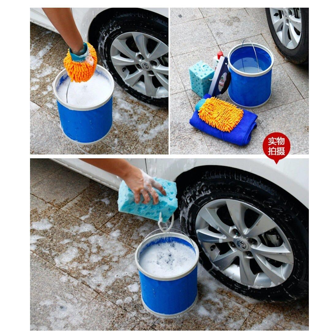 13l Collapsible Water Bucket Pail Container Waterproof Multi Purpose Car Washing Fishing Camping Outdoor Water Drinks Container Car Accessories Accessories On Carousell