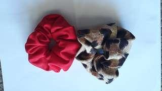 Handmade large scrunchies