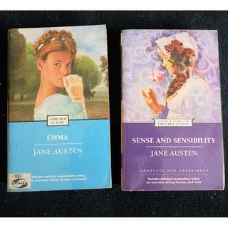 !! SET !! Emma & Sense and Sensibility by Jane Austen