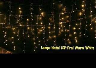 Lampu Tumblr LED Tirai - Warm White