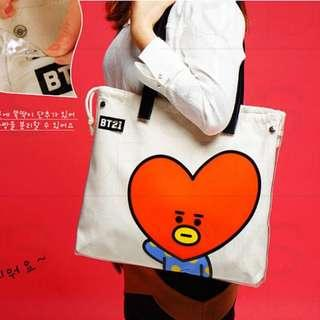 (Ready stocks) BT21 jelly tote canvas bags