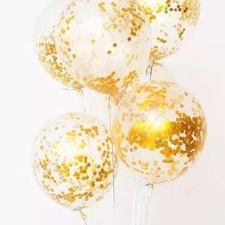 金色圓點汽球填充裝飾