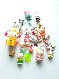 Assorted & Mixed Hello Kitty Figures Keychain Bundle