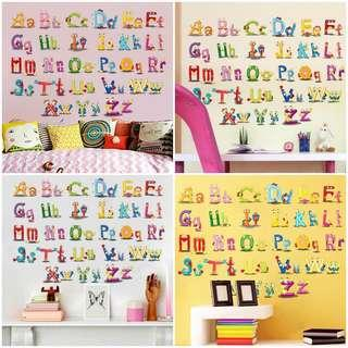 Alphabets wall decal (lowercase n uppercase)