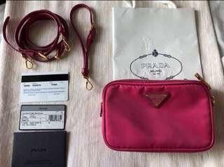 Authentic Prada Tessuto Crossbody Bag 1NF861