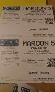 Maroon 5 lower box 30k for 2