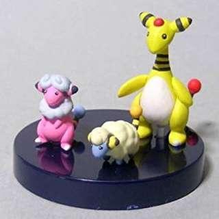 Pokemon Mareep Flaaffy Ampharos Zukan Figure