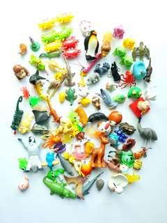 Assorted Mixed Job Lot Animals Bundle toys vintage