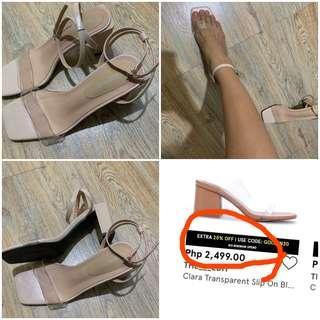 💯Chloe Edit Transparent Bloc Heel (Retails at 2,500)