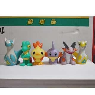 Pokemon Shiny Kids Hoenn Starters Treecko, Torchic, Mudkip + Latias, Latios, Swampert + Regular Swampert Figure