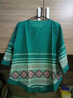 Blouse ethnic motif tenun