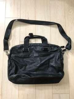 Agnes b  voyage genuine leather bag