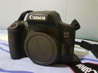 Canon EOS 750D with EFS 18.55mm lens