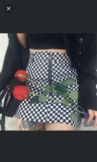 [ INSTOCK ] checkered skirt 🏁✨