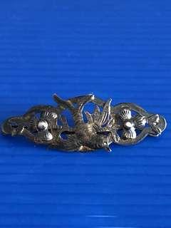 Antique Peranakan Silver Hair Clip CA 1900