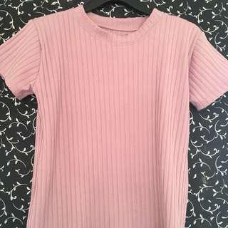Pink long back t shirt