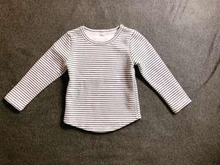 🚚 百搭條紋刷毛上衣(尺碼:95)