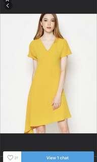 Love and bravery mustard yellow midi dress LAB