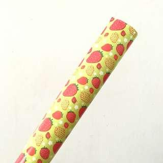 STRAWBERRY GREEN WRAPPING PAPER