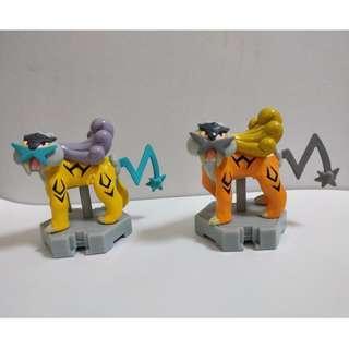 Pokemon Moncolle Plus Shiny Raikou Lottery Prize + Raikou Figure