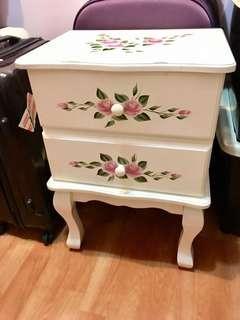 英式古典玫瑰風 彩繪 床邊櫃 / 🛏️床邊桌 / 收納櫃/ 抽屜櫃 自取