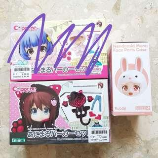 Clearance - Cu-poche Animal Hoodie set/Nendoroid more face part case