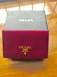 Authentic preloved like new prada card holder