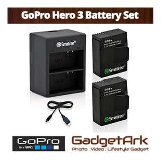 🚚 Smatree A2C-005 Battery set for GoPro Hero 3/3+ Action Camera