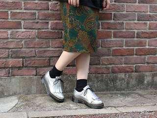 Dr.martens KLTE MET SILEVR 馬汀3989銀色雕花流蘇鞋 全新