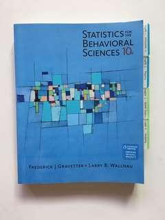 Statistics For The Behavioral Sciences - 10th Edition by Frederick J Gravetter and Larry B. Wallnau