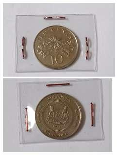Rare year 1999, floral 10c coin 1pc.